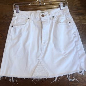 Citizens of Humanity White Jean Skirt